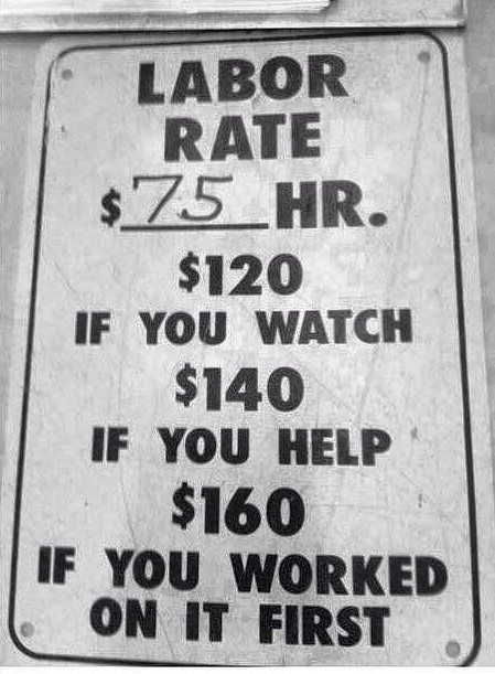 Mechanic Labor Rate >> 25 best images about Here's Your Sign on Pinterest | Tacos, On the side and Irish