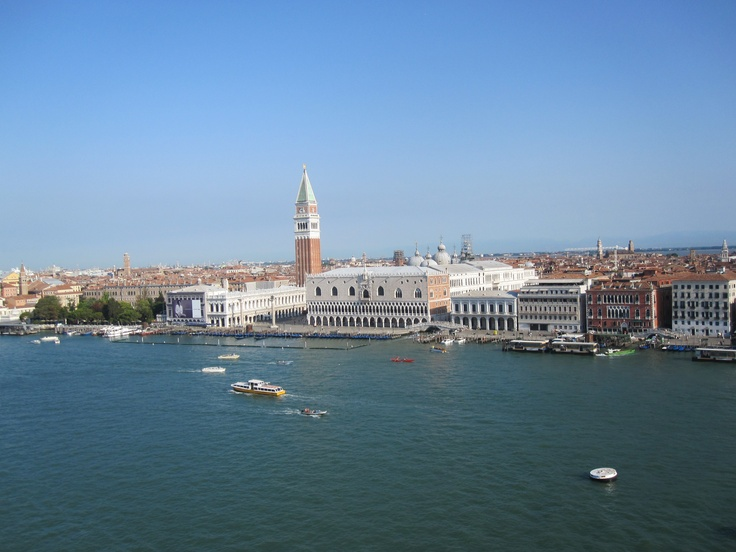 A view over Venice from the ship