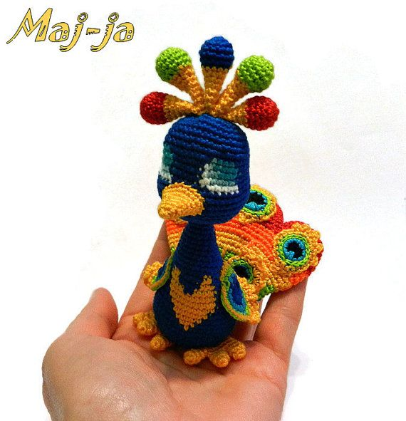 Crochet peacock  unique design   Amigurumi   Home by MajjaCrochet