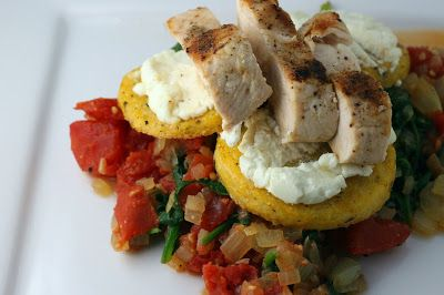 From the Pantry. Organic Garlic Basil Polenta with Grilled Chicken and Goat Cheese - Florida Coastal Cooking & Wellness