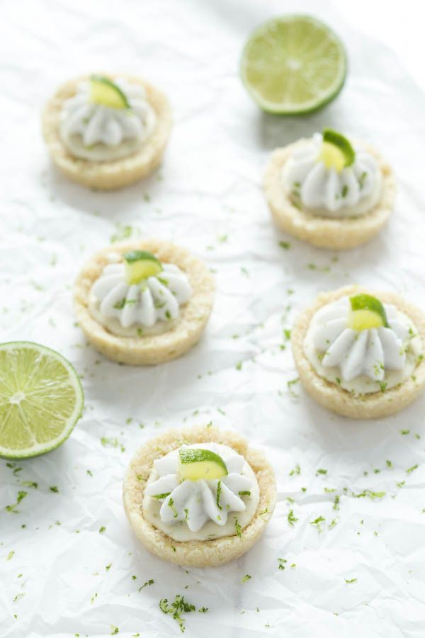 No Bake Mini Key - No Bake Mini Key Lime Pies are a layer of crust filled with key lime filling and topped with whipped coconut cream! These little bites pies are gluten free, vegan, and paleo!