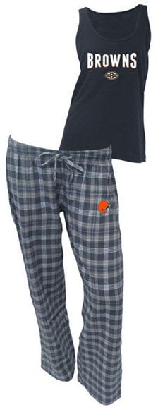 College Concepts Women's Cleveland Browns Tank and Pajama Pants Set