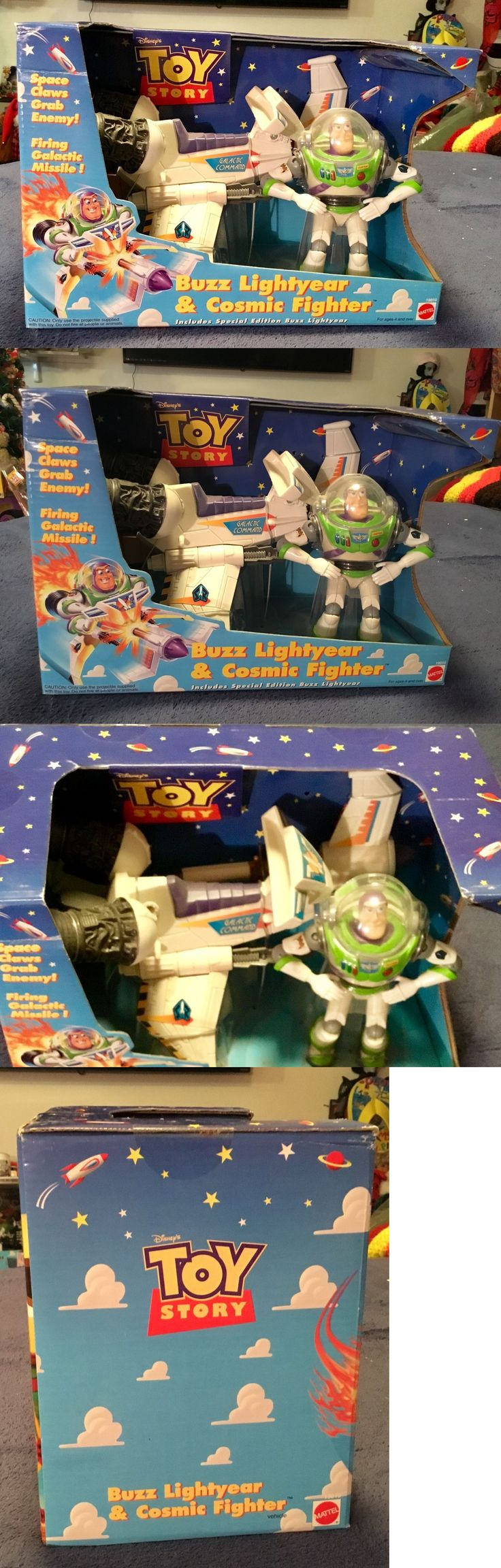 Toy story of terror 1 2 3 buzz lightyear of star command for sale - Toy Story 19223 Disney 1998 Thinkway Toys Toy Story 5 Buzz Lightyear And Cosmic Fighter