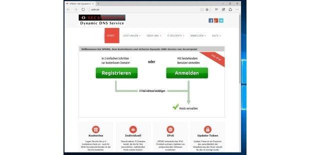 """Wer einen kostenfreien dynamischen DNS-Dienst sucht, findet im Netz auch deutschsprachiger und nach wie vor kostenfreie Angebote, wie den """"Dynamic DNS Service"""" der Sicherheitsfirma SecurePoint. Die NAS als eigene Cloud verwenden"""