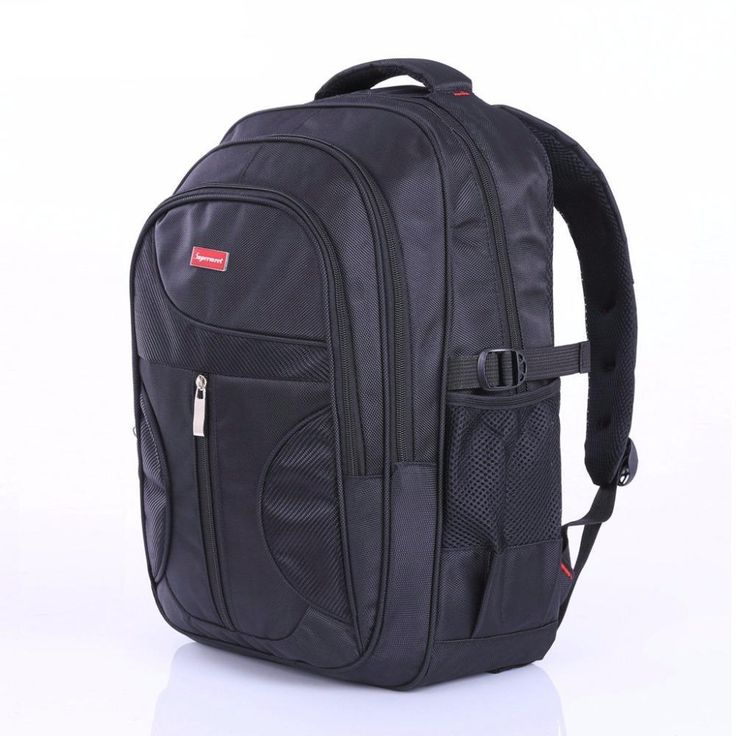 Supermeet Men Backpack Large Capacity Bagpack for Boys Daypack Laptop Back Pack Nylon Tide Black Men's Backpacks School Bags
