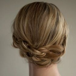 I wish my hair was thicker/a little longer and held updos better so I could do this.