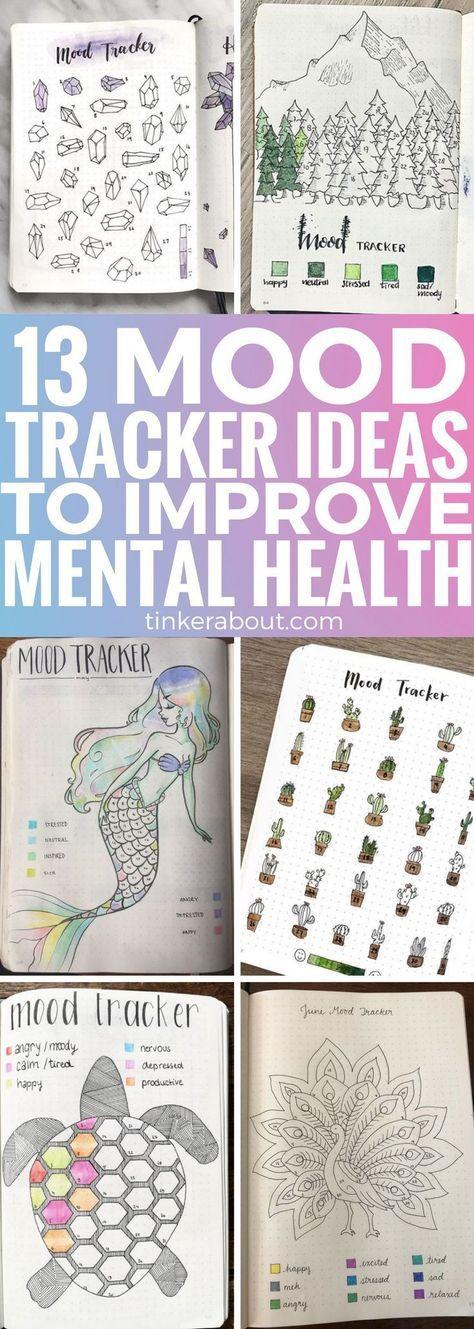 Verbessern Sie Ihre psychische Gesundheit mit einem Mood Tracker für Ihr Bullet-Journal! Klicken Sie auf