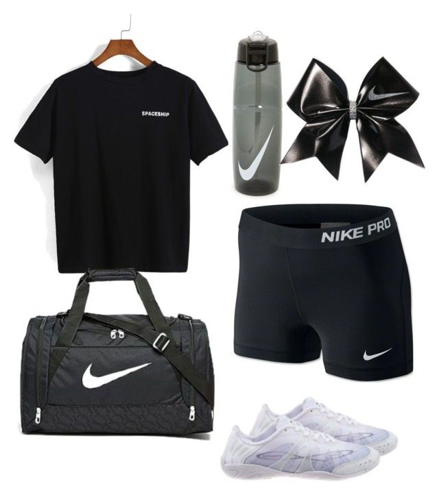 """HS cheer tryouts outfit #1"" by gennaguirre on Polyvore featuring NIKE"