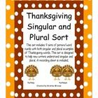 This+set+includes+9+sets+of+picture/word+cards+with+both+singular+and+plural+examples+of+Thanksgiving+words.+This+set+is+designed+to+help+new+write...
