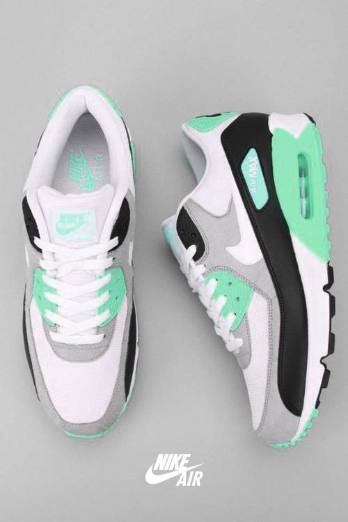 Tumblr shoe-pornn:  Nike Air Max 90 WMNS-Mint Ocean. PS Special.