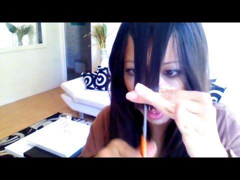 comment couper sa frange sans se louper - YouTube