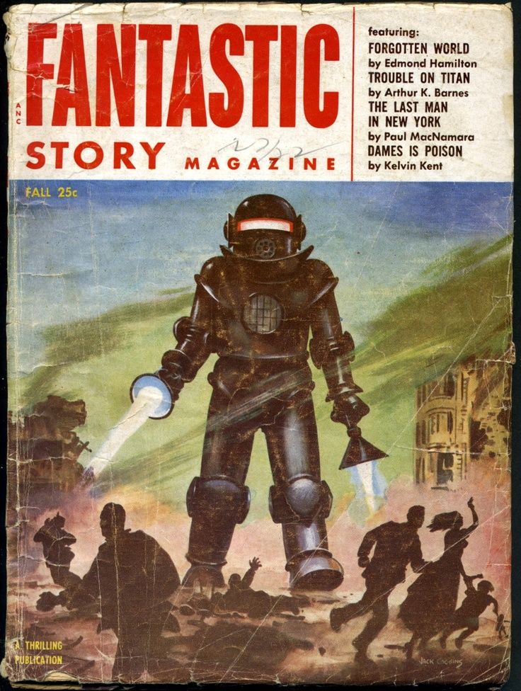 Fantastic Story Magazine Fall Cover By Jack Coggins Find This Pin And More On SciFi