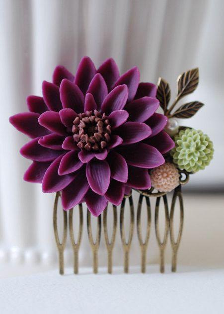 Large Plum Purple Chrysanthemum Flower Wedding