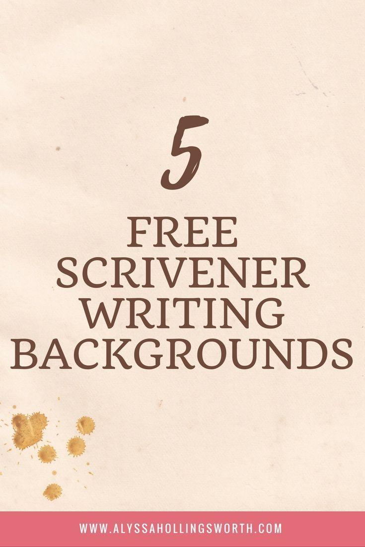 5 free scrivener writing backgrounds | scrivener | pinterest | free