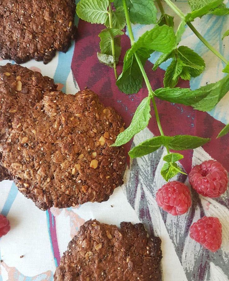 Maapähkinävoi-suklaa proteiinikeksit (gl)