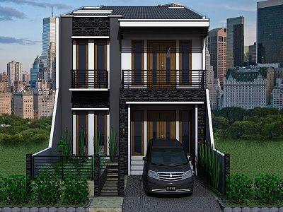 Rumah Minimalis Modern 2 Lantai Jual Batu Alam