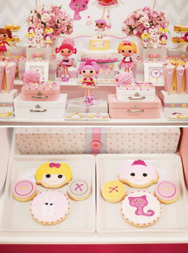 Pink & Yellow Lalaloopsy Dessert Table