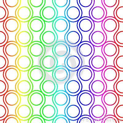 Scales and circles seamless background rainbow colors. (C) Celia Ascenso 2017