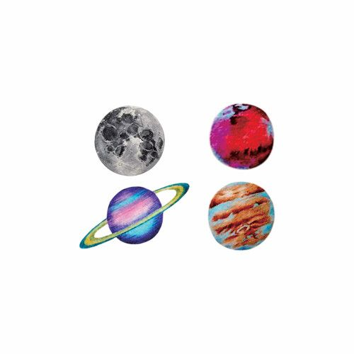 Waterproof Temporary Fake Tattoo Stickers Cool Grey Red Earth Planet Unique Design Body Art Make Up Tools #Affiliate