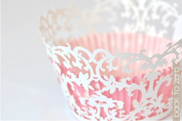 Laser Cut Lace Cupcake Wrappers - Victorian x 20. $12.00, via Etsy.