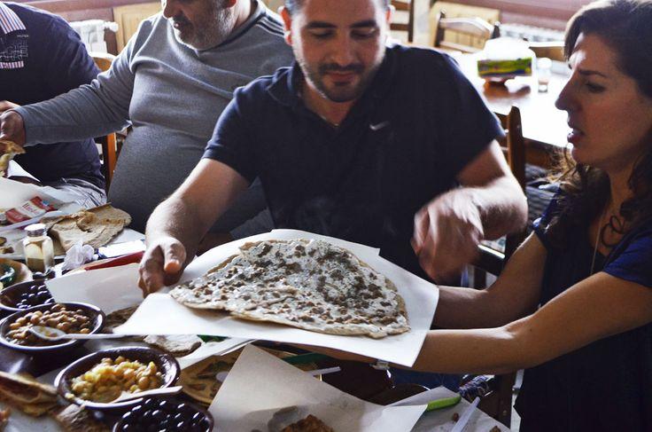 Lebanese man'oushe, za'atar flatbread | Rose Water & Orange Blossoms