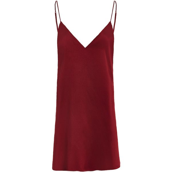 Zillah Slip Dress Blood Red (pre-order) found on Polyvore featuring dresses, sexy slip, red slip and vintage slip