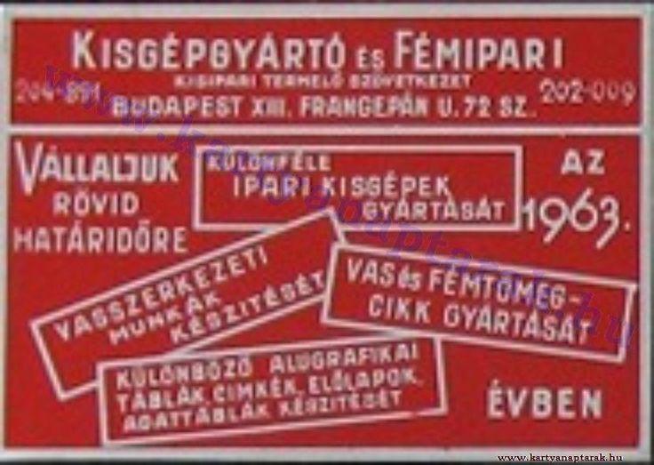 1963 - 1963_0108 - Régi magyar kártyanaptárak