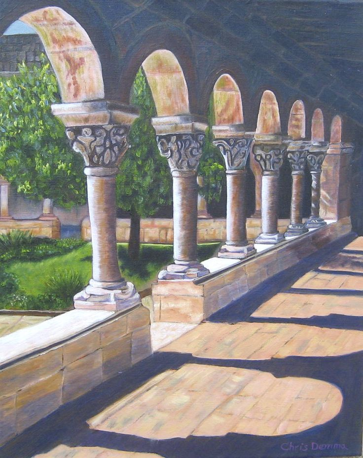 Column of the Cloisters  oil