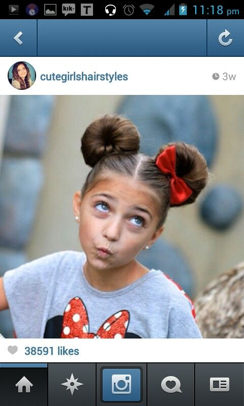 Cute Mickey Mouse style hair style