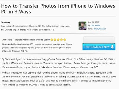 3 Ways How to Transfer Photos from iPhone into Windows 7 8 10