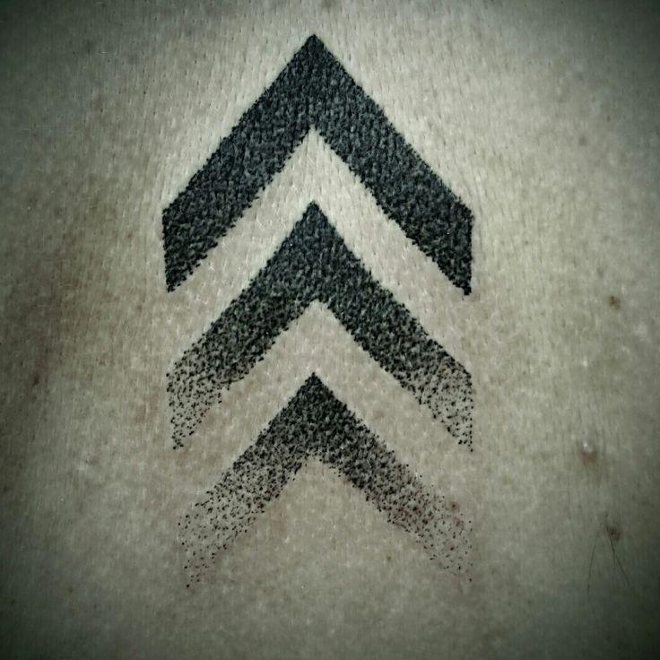Chevron tattoo dot work