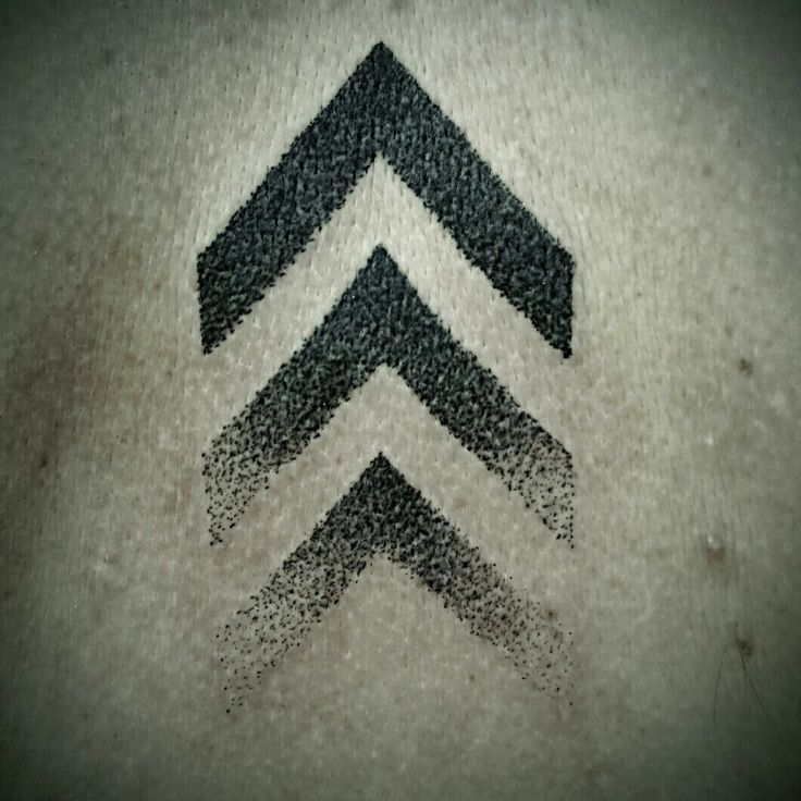 Chevron tattoo dot work