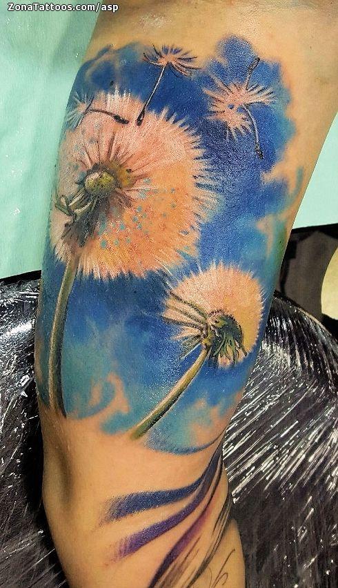 Foto tatuaje Diente De León, Flores, Brazo