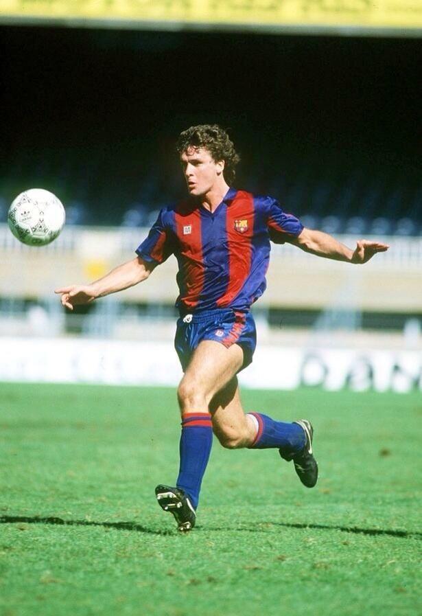 Mark Hughes FC Barcelona 1986 (between spells at United)