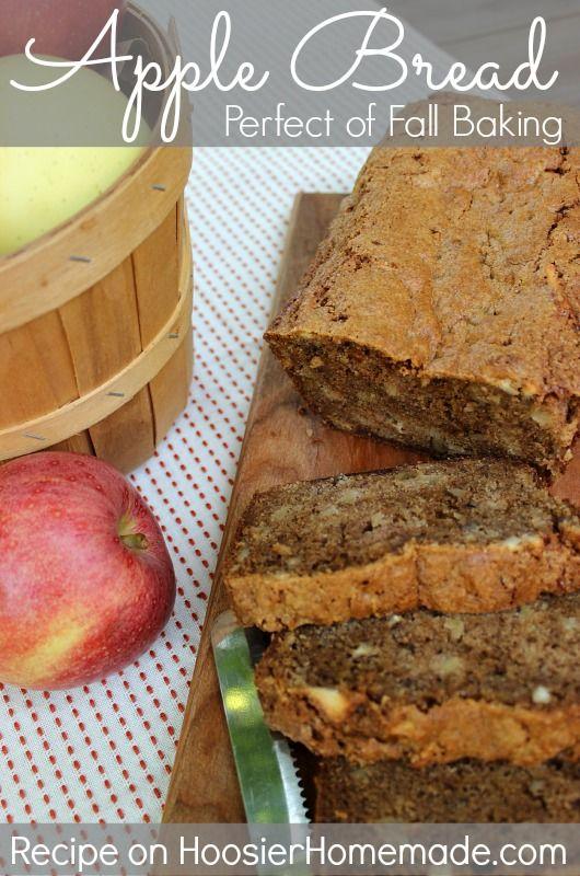 Apple Bread :: Perfect for Fall Baking :: Recipe on HoosierHomemade.com #Baking #Fall #Recipes
