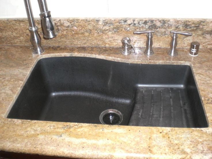 exceptional How To Clean Black Granite Composite Kitchen Sink #5: Kitchen: Handsome Kitchen Decoration With Black Granite Composite .