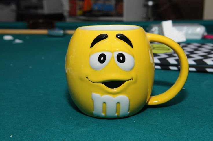 "M & M's Galerie -4""  Yellow Coffee Cup- Unused from Adult Collection"