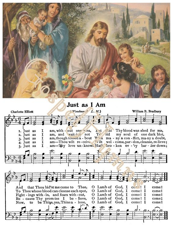 Just As I Am Note cards or hymn print Sheet Music by GospelHymns