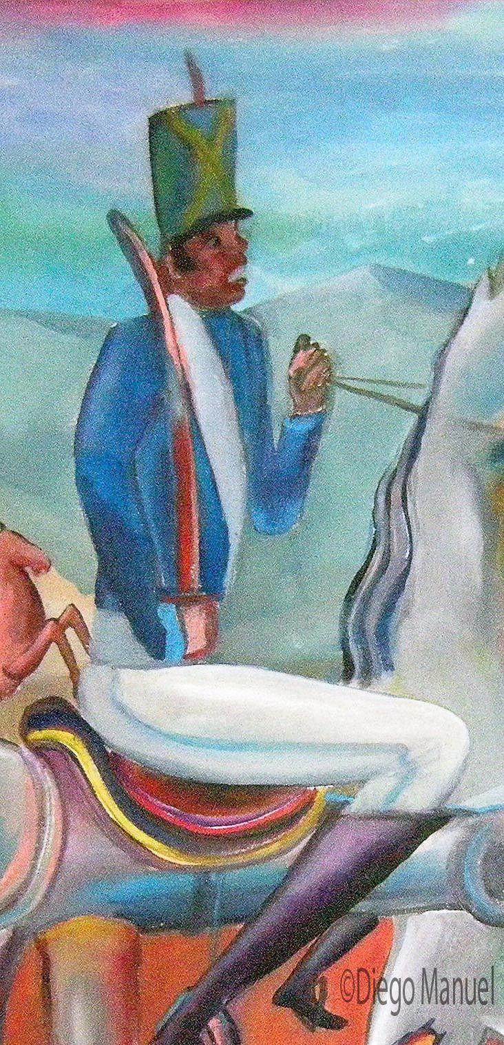 """""""Batalla de Chacabuco """" (Apuntes sobre la Guerra de la independencia) ,acrílico sobre lienzo,70 x 100 cm., 2010. Cuadro en venta de la Serie Historia Argentina del artista plastico Diego Manuel"""