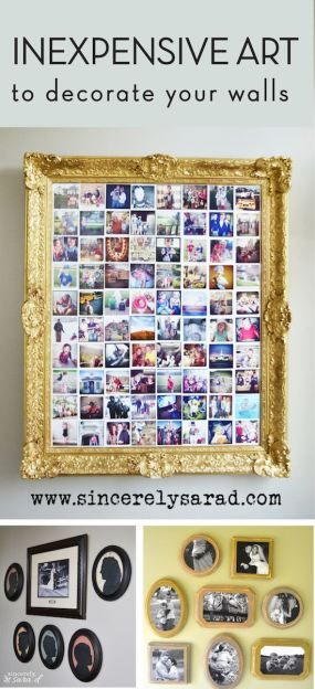 470 Best Inexpensive DIY Wall Decor Images On Pinterest | Diy Wall Decor,  Abstract Art And Craft Ideas
