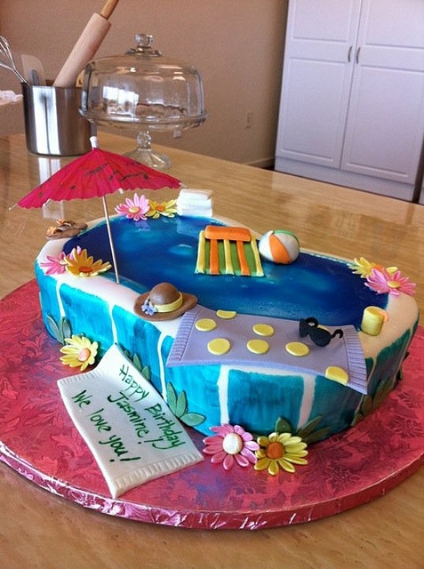 Pool Party Cake by Cakes by Gaby!, via Flickr