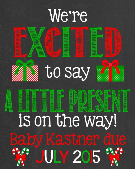 christmas pregnancy announcement chalkboard poster