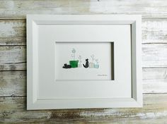 Pebble+and+seaglass++plants+and+cats+8+by+10+PebbleArt+by