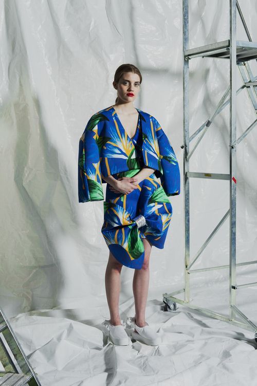 Flower jacket and skirt LAURA GRÖNDAHL graduate collection