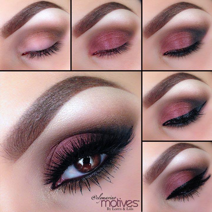 Pink and black dress makeup tutorial