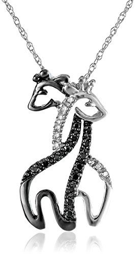 Beautiful intertwined giraffe necklace. :)