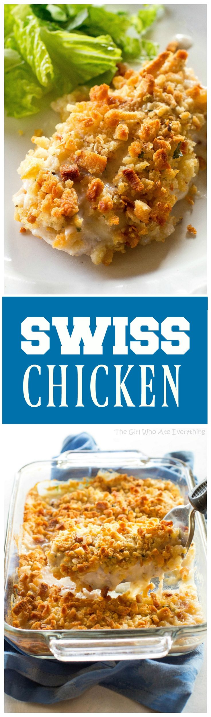 Swiss Chicken - an easy dinner for those busy nights. the-girl-who-ate-everything.com