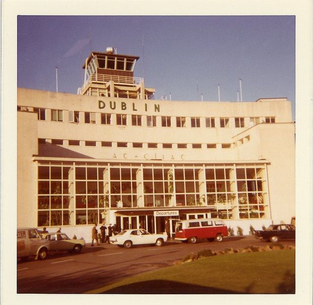 Dublin Airport 1960s or early 1970s. The original terminal had become a departures terminal with the opening of the North Terminal in 1959.