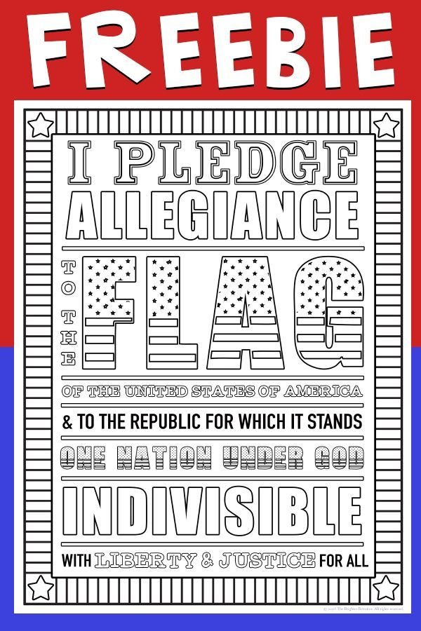 Pledge Of Allegiance Poster Free Pledge Of Allegiance Teachers