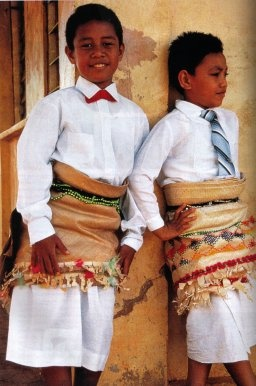 Tonga (South Pacific)...Kids in their Sunday best - not my photo, but a great place to visit